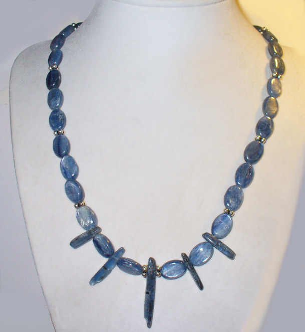 kyanite and sterling necklace