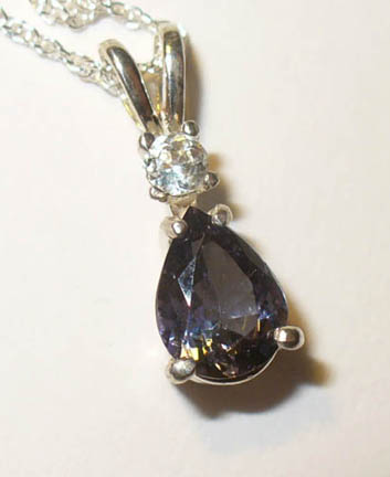 Tanzanite duo in sterling pendant